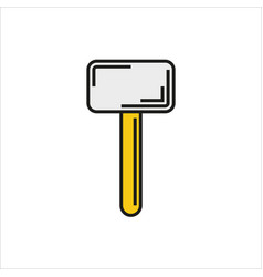 Hammer icon on white background vector