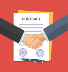 Handshake business people on background of vector