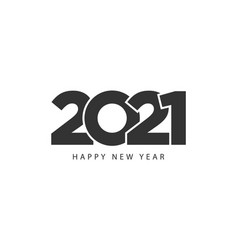 happy new year 2021 creative banner black white vector image