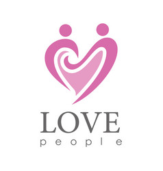 Hearth love people logo vector