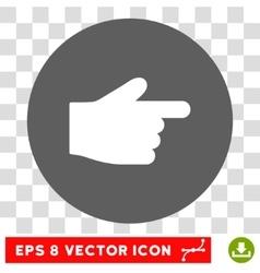 Index Finger Round Eps Icon vector