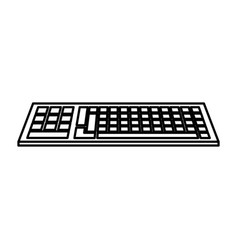Keyboard device icon vector