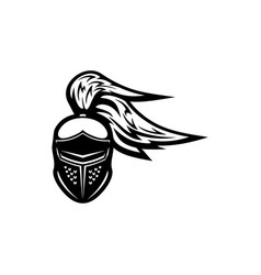 knight spartan gladiator crusader warrior helmet vector image
