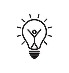 light symbols ideas creative thinking vector image