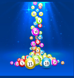 lottery game balls with numbers on a colored vector image