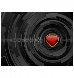 love futuristic background vector image