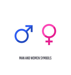 Male and female icon set vector