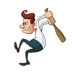 man with baseball bat vector image
