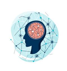 Mental health silhouette a vector