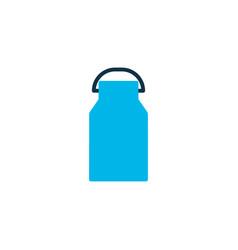 milk can icon colored symbol premium quality vector image