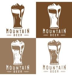 mountain beer vintage labels set vector image