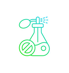 no synthetic fragrances gradient linear icon vector image