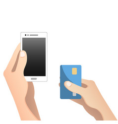 online and mobile payments concept vector image