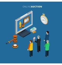 Online auction isometric vector