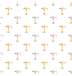 Orange hoisting crane pattern vector
