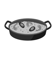 Paella icon in monochrome style isolated on white vector