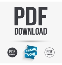 PDF download icon Upload file button vector image