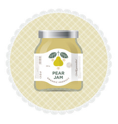 pear jam label and packaging vector image