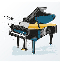 piano instrument musical icon vector image