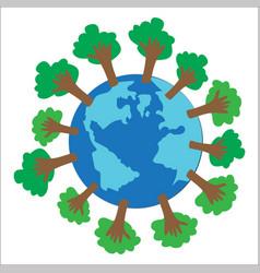 Reduce global warming vector
