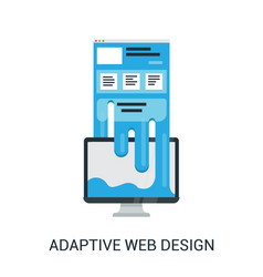 Responsive web design abstract vector