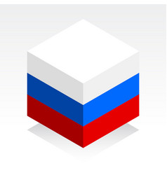 russian flag image of russian federation vector image