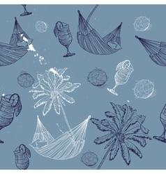 sea journey seamless pattern vector image