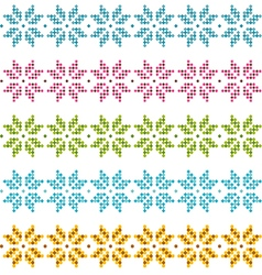 set patterns for embroidery stitch vector image