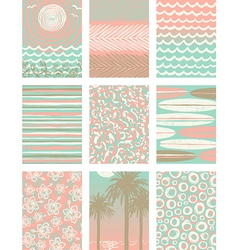 set summer vacation poster backgrounds vector image