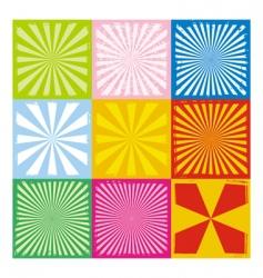 set textural radiant backgrounds vector image