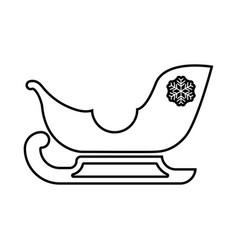 sleigh santa claus black icon vector image