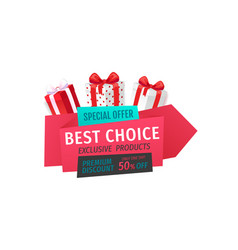special offer best choice 50 percent off reduced vector image