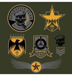 Special unit military emblem set design template vector