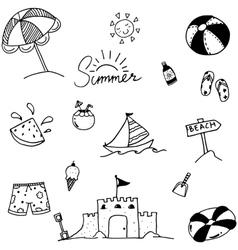 Summer art doodle vector