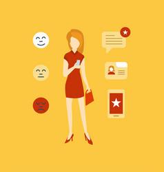 Testimonials shopping feedback mobile app vector