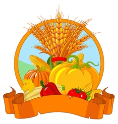Thanksgiving Harvest Design vector image