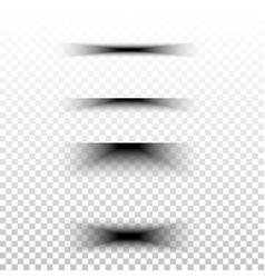 transparent realistic paper shadow effect set web vector image