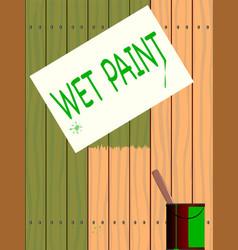 Wet paint vector