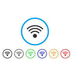 wi-fi source rounded icon vector image