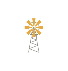 windmill flat icon isolated on white background vector image