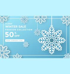 winter winter social media post design template vector image