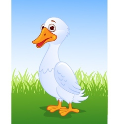 Duck cartoon vector image vector image