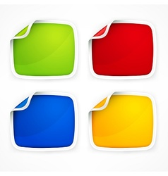 Four colored stickers vector image vector image