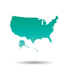 usa united states of america map colorful vector image