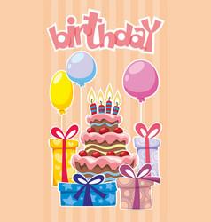 festive birthday template vector image vector image