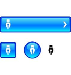 Pen button set vector
