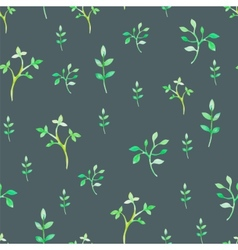 Floral watercolor seamless pattern vector image vector image
