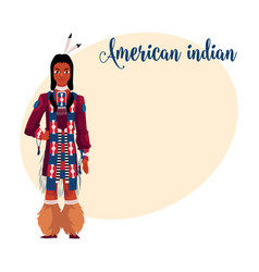 native american indian man in traditional national vector image