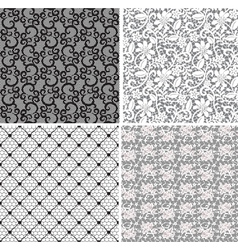 set of lace 2 vector image