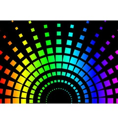 Squared Rainbow Background vector image vector image